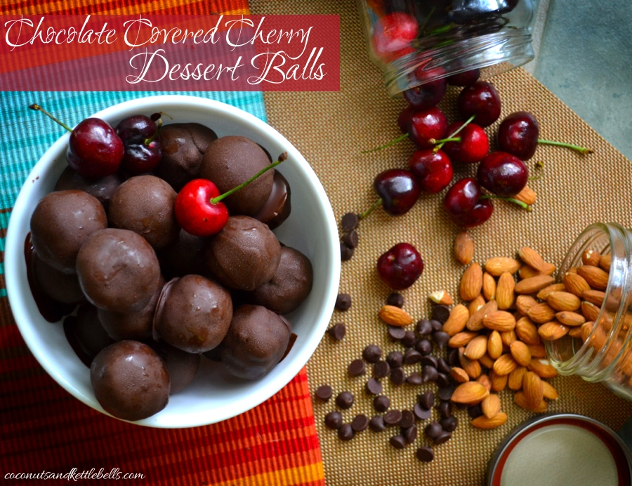 Chocolate Covered Cherry Dessert Balls
