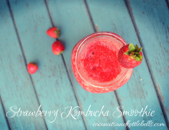 Strawberry Kombucha Smoothie