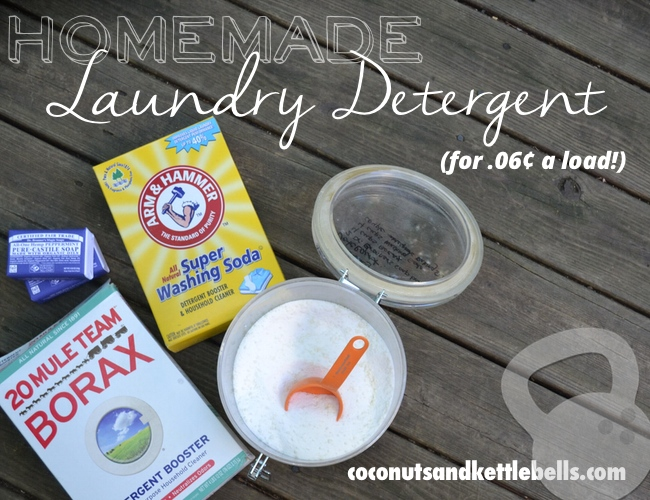 Homemade Laundry Detergent (for six cents per load