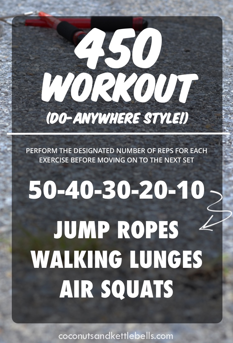 450 Workout (do-anywhere style workout!) - Coconuts & Kettlebells