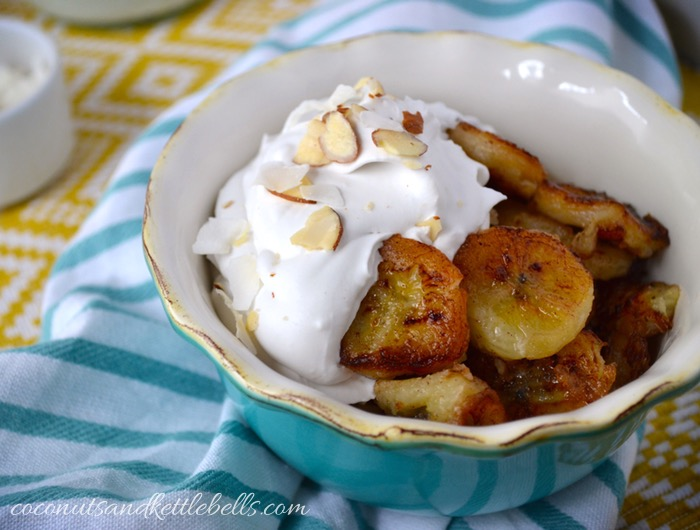 Pan fried bananas with coconut cream coconuts kettlebells pan fried bananas with coconut cream publicscrutiny Image collections