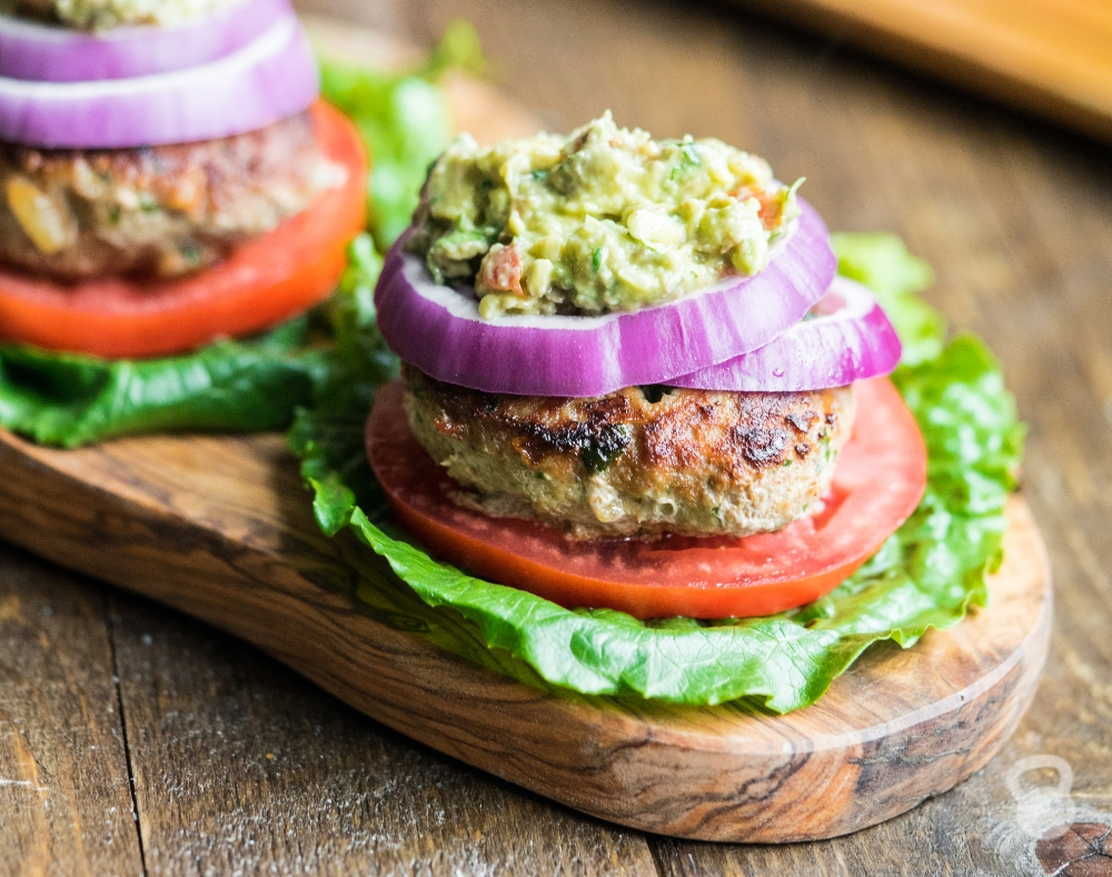 Cilantro-Lime Turkey Burgers (Paleo, Low Carb, Whole30)