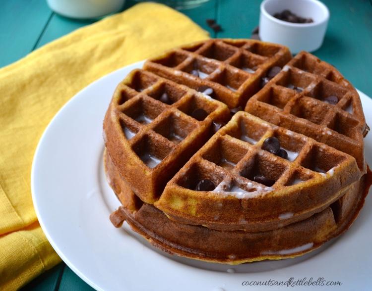 Cinnamon Vanilla Gluten Free Waffles with Coconut Cream Syrup