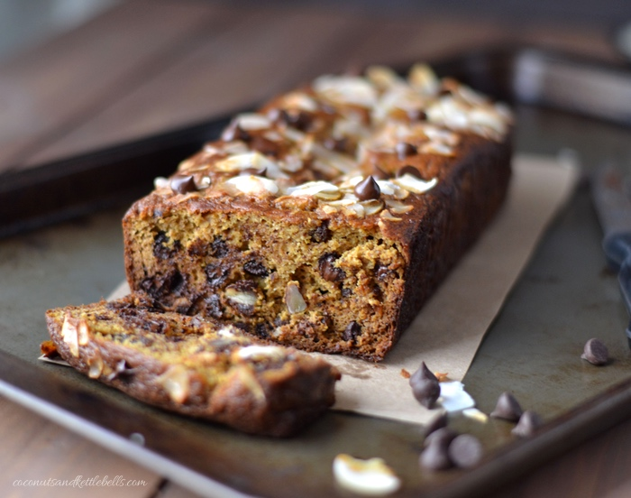 Dark Chocolate Chip Pumpkin Bread