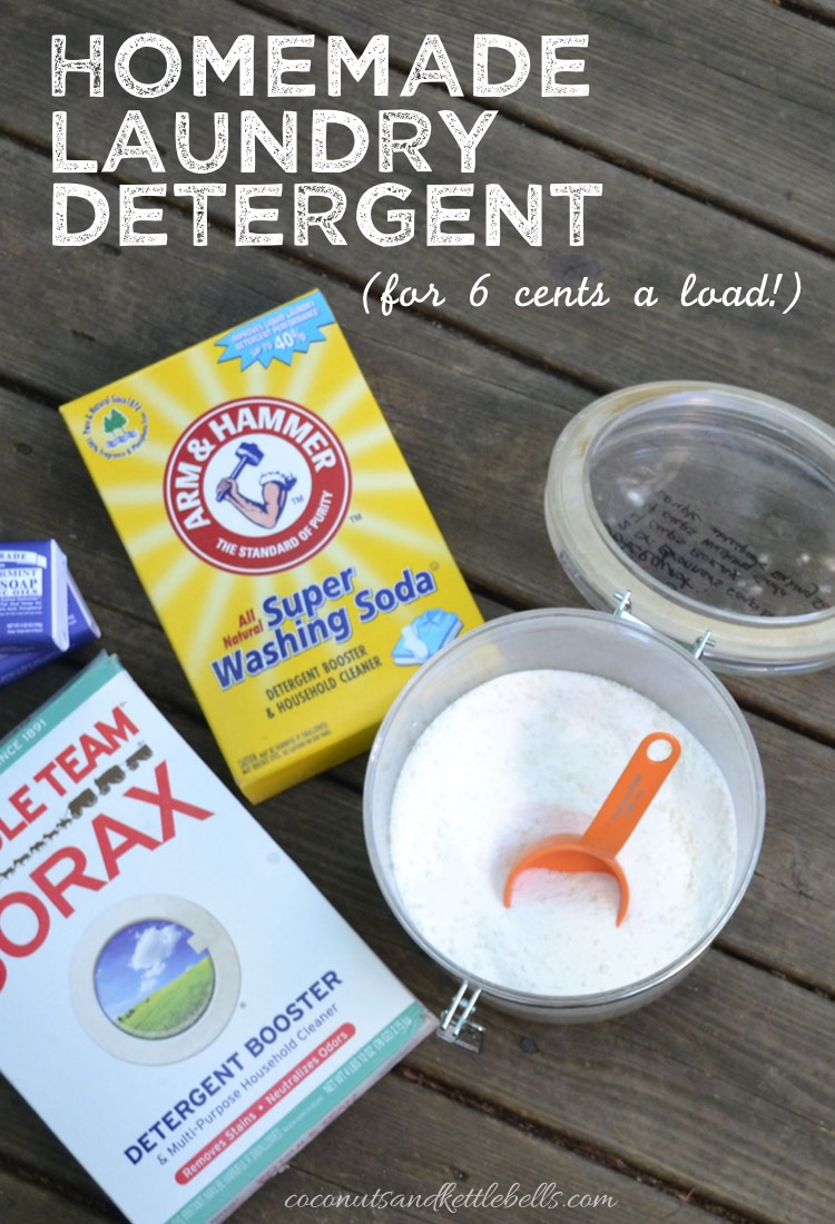 Home Made Laundry Detergent (for 6 cents a load!)