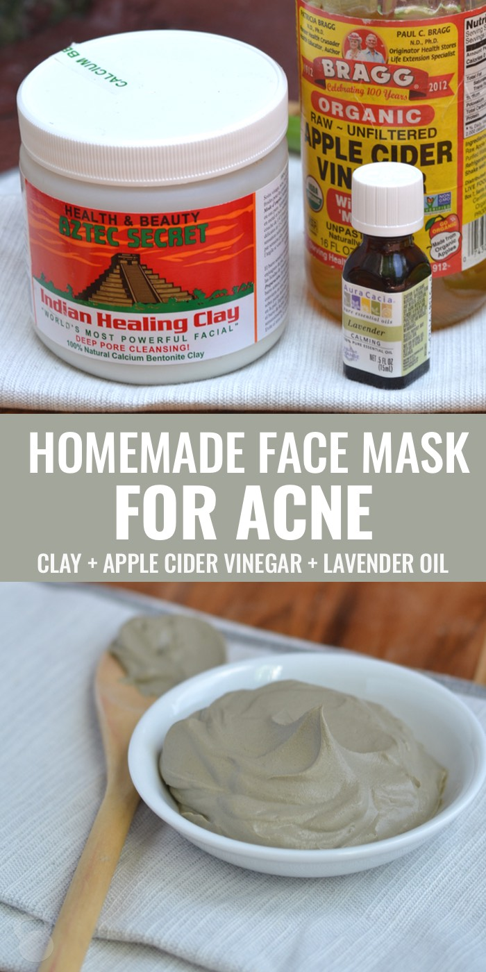 Homemade facial mask for acne
