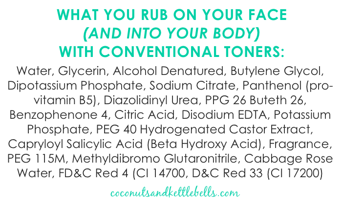 Ingredients in Conventional Toner