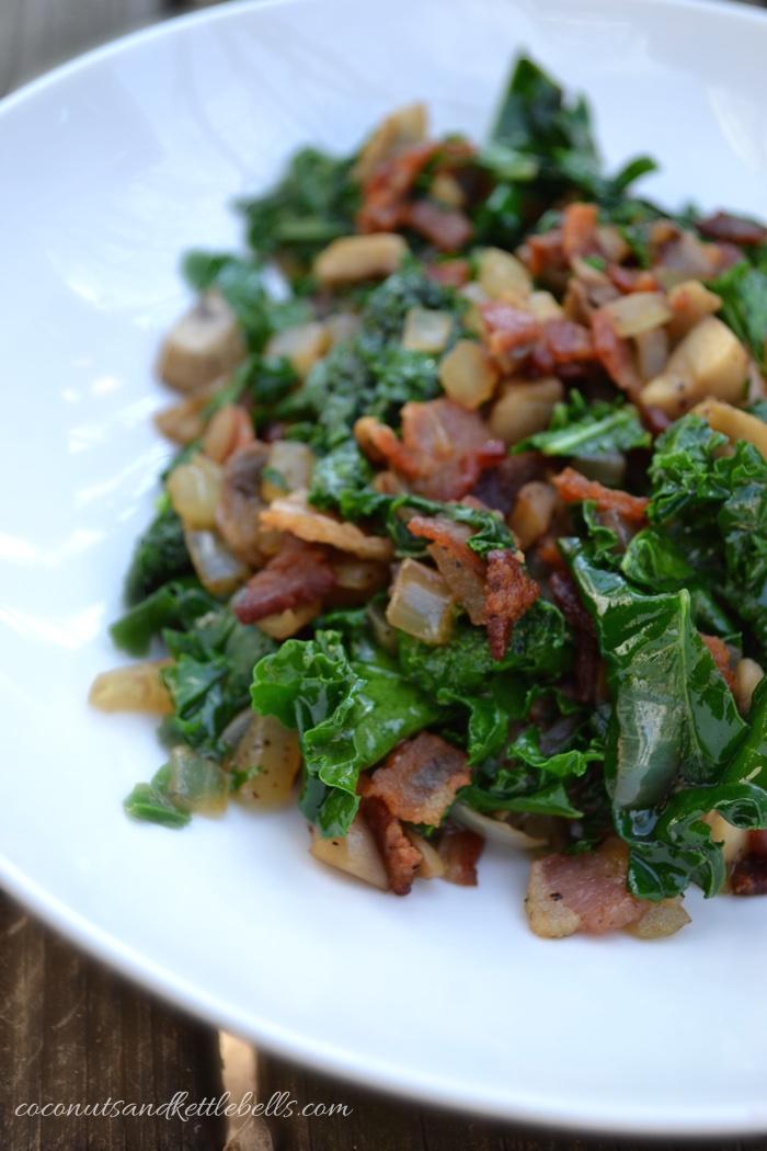 Kale and Bacon Hash - Coconuts & Kettlebells