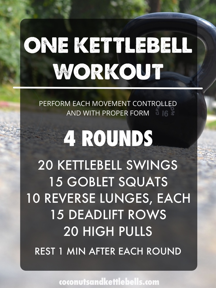 One Kettlebell Workout - Coconuts & Kettlebells Workout