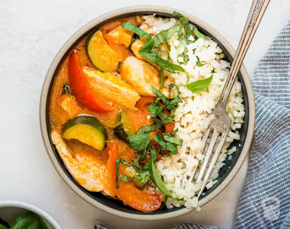 Thai Chicken Coconut Curry (Paleo, Low Carb, Whole30)