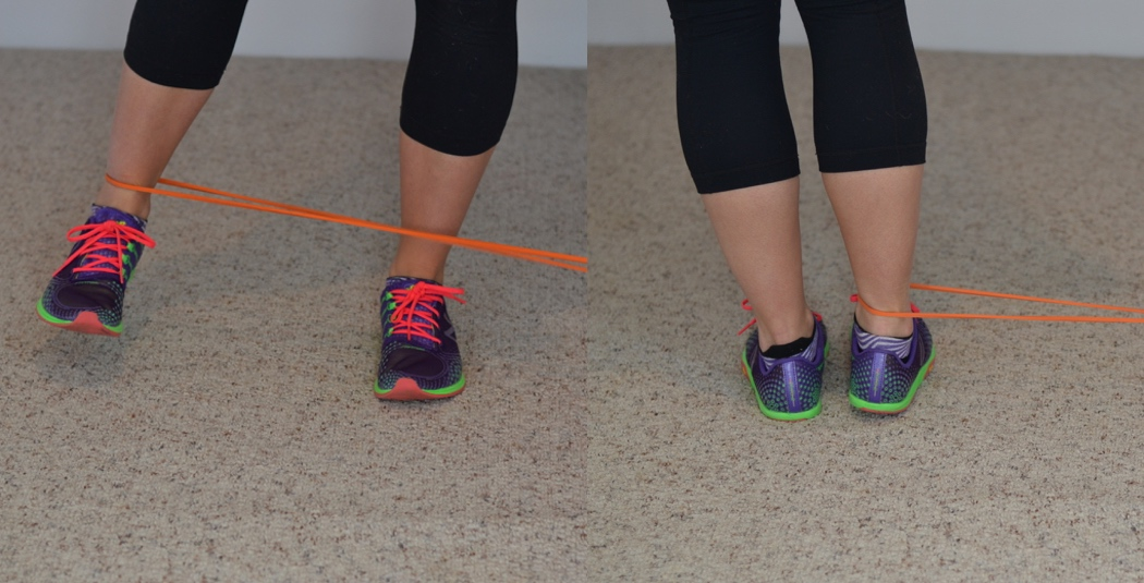 Side Kicks Band Standing Glute Activation