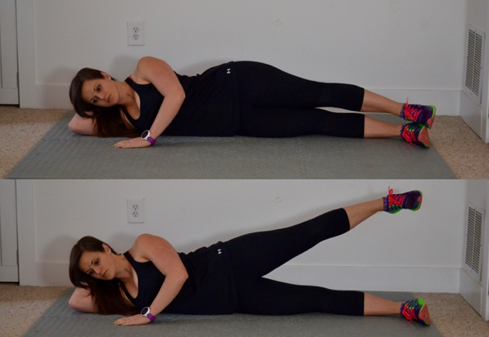 Side Laying Raise Glute Activation