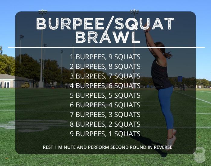 Burpee/Squat Brawl