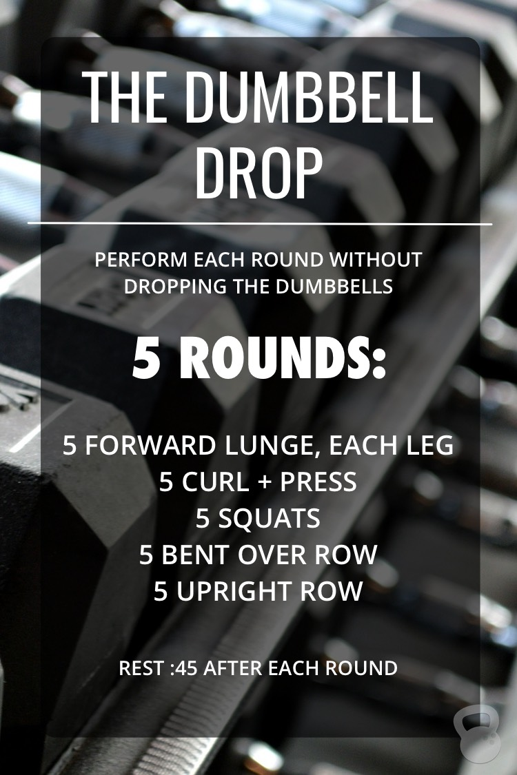 The Dumbbell Drop Workout (one set of dumbbells!)