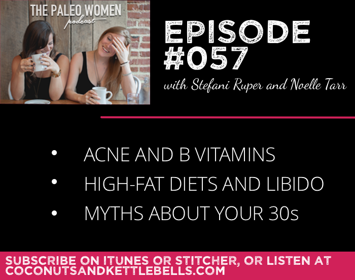 #057: Acne and B Vitamins, High Fat Diets and Libido, & Myths About Your 30s