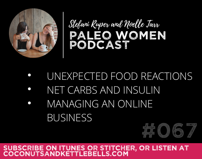 #067: Unexpected Food Reactions, Net Carbs and Insulin, & Managing an Online Business