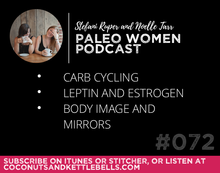 #072: Carb Cycling, Leptin and Estrogen, & Body Image and Mirrors