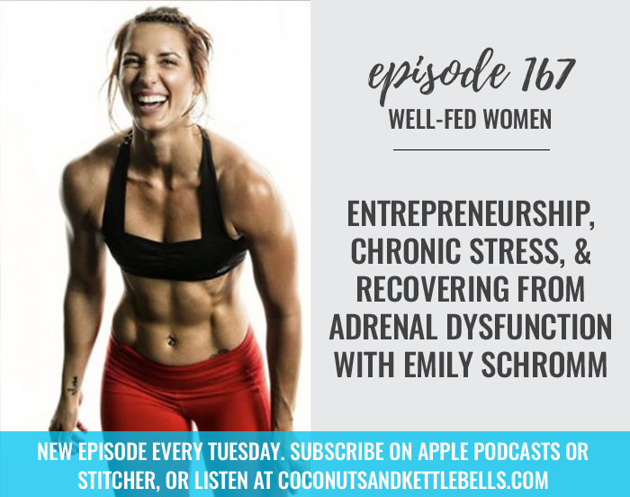 #167: Entrepreneurship, Chronic Stress & Recovering From Adrenal Dysfunction with Emily Schromm