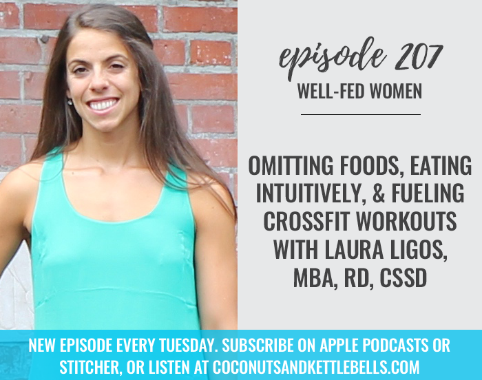 #207: Omitting Foods, Eating Intuitively, & Fueling CrossFit Workouts with Laura Ligos, MBA, RD, CSSD