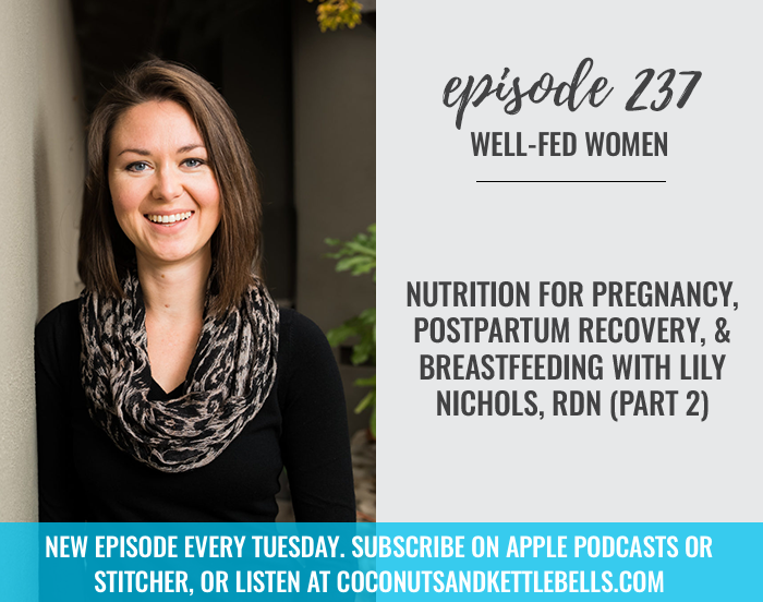 #237: Nutrition for Pregnancy, Postpartum Recovery, and Breastfeeding with Lily Nichols, RDN (Part 2)