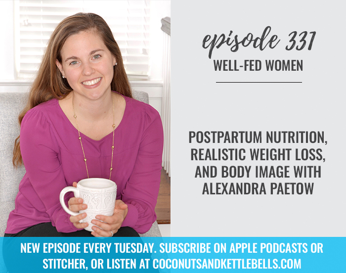 Postpartum Nutrition, Realistic Weight Loss, and Body Image with Alexandra Paetow