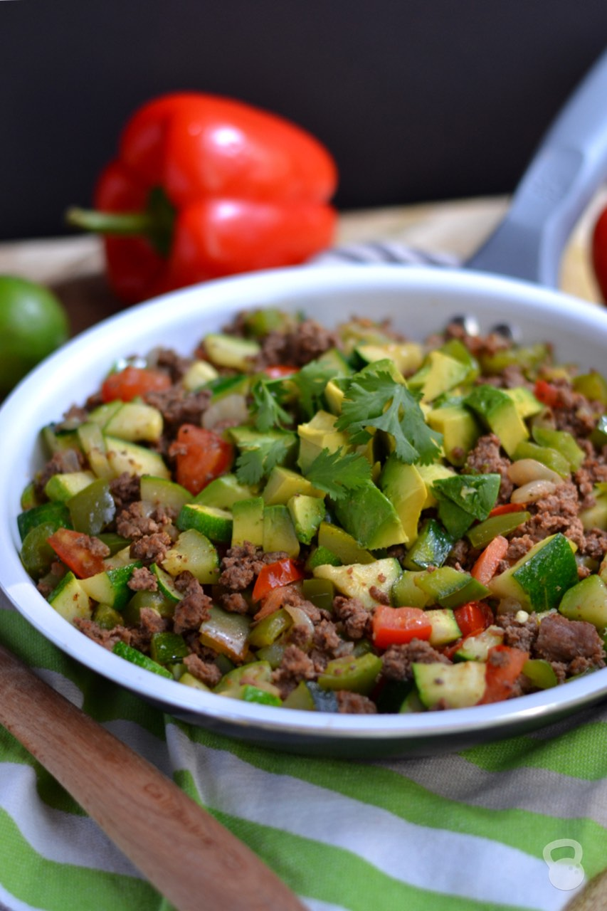Zucchini and Beef Taco Skillet - Coconuts & Kettlebells