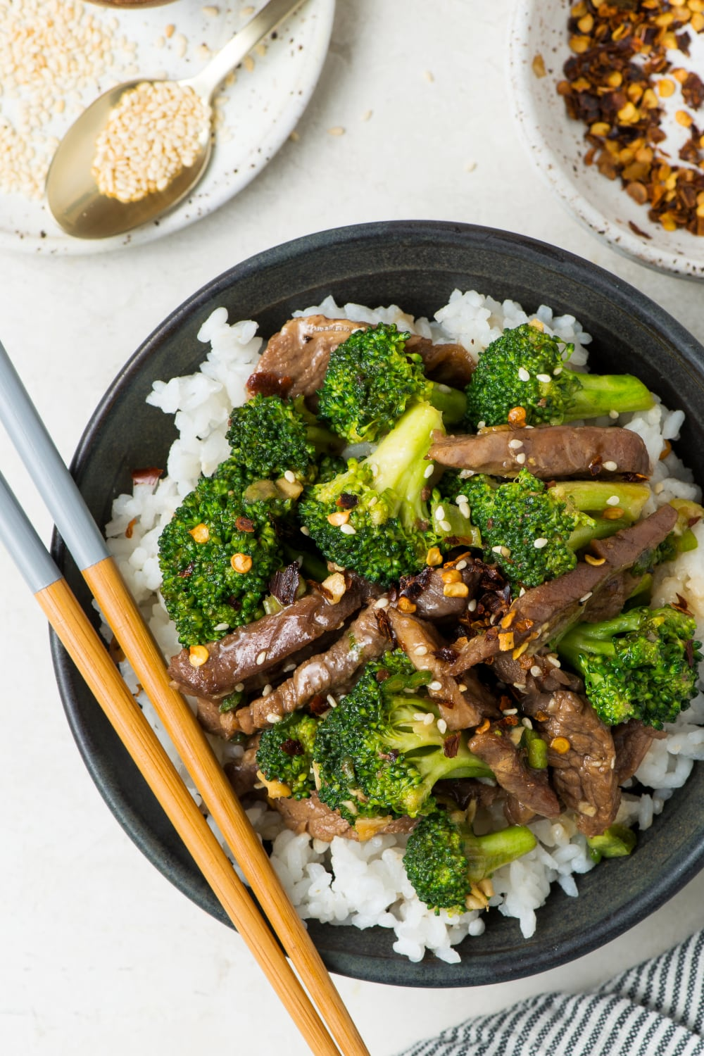 healthy beef and broccoli recipe in a bowl