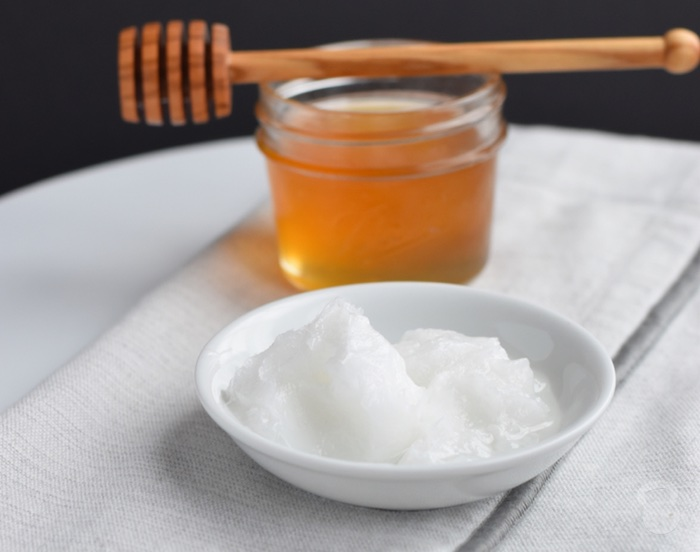 Image result for Baking Soda, Honey, Coconut/Olive Oil