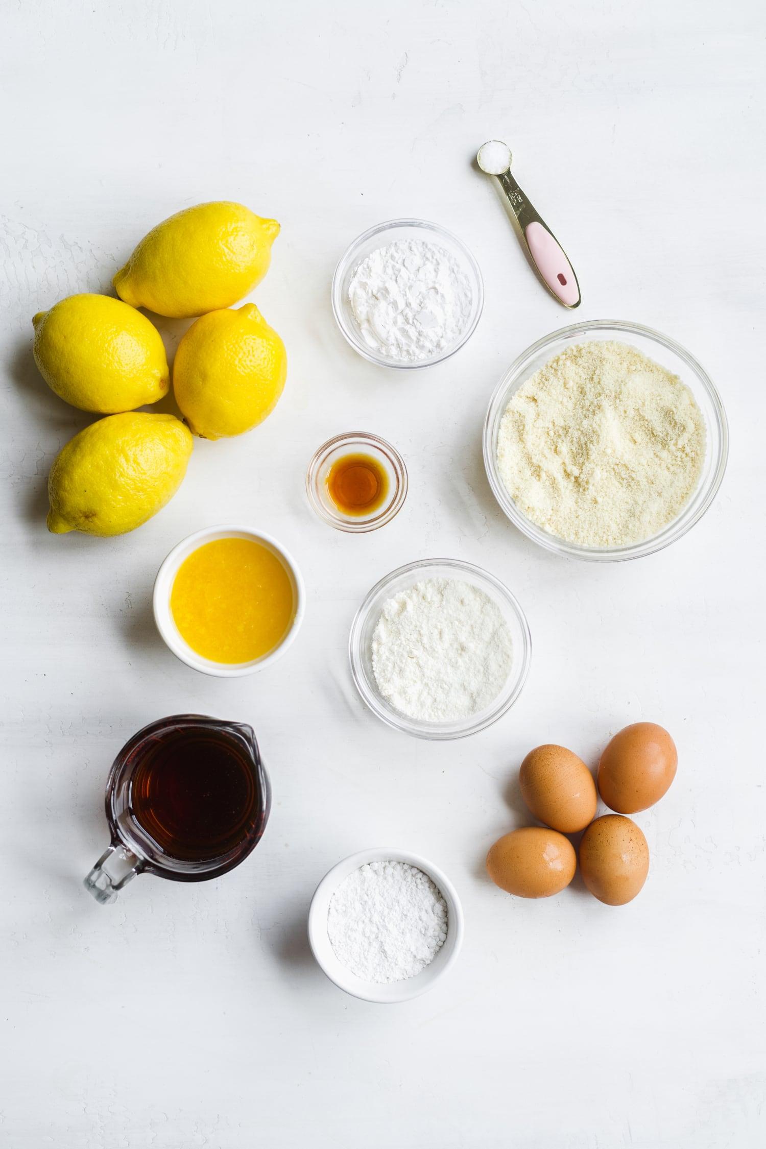 ingredients in healthy lemon bar recipe