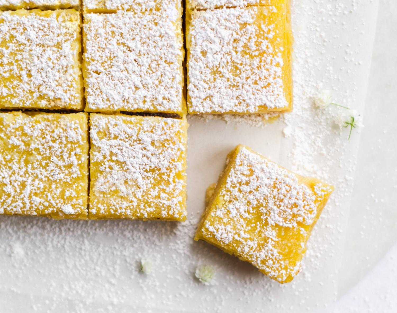 Healthy Lemon Bars (Gluten Free, Paleo)