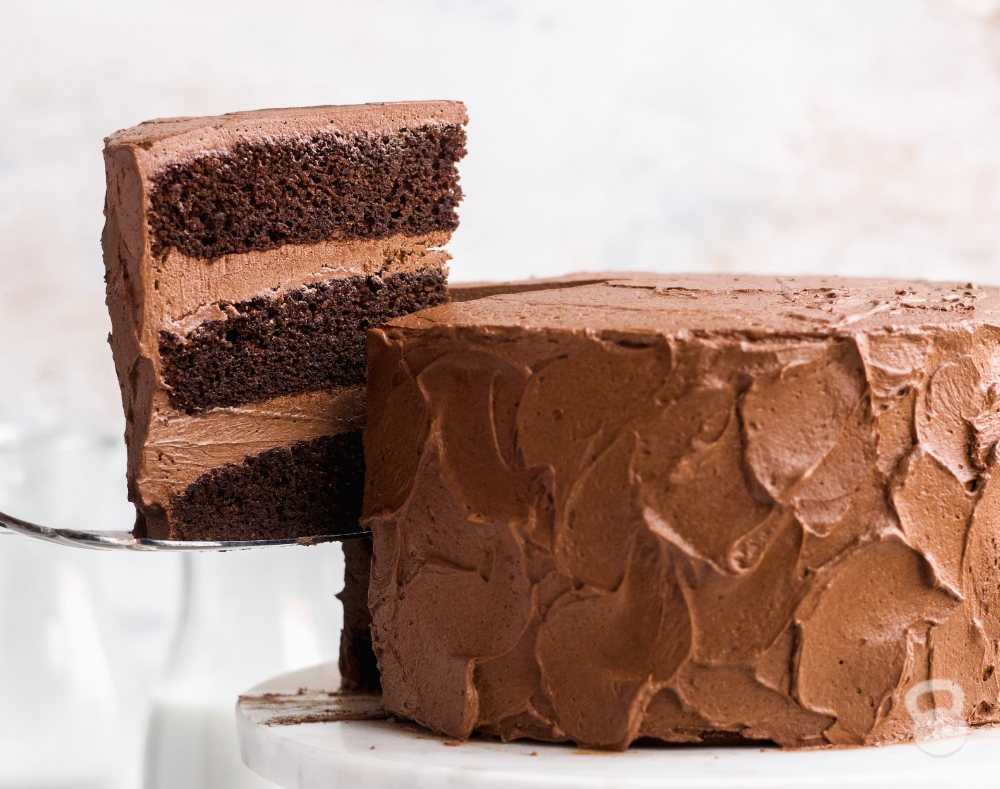 Paleo Chocolate Cake with Whipped Chocolate Frosting