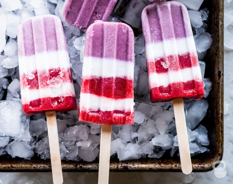 Red, White, and Blue Patriotic Popsicles