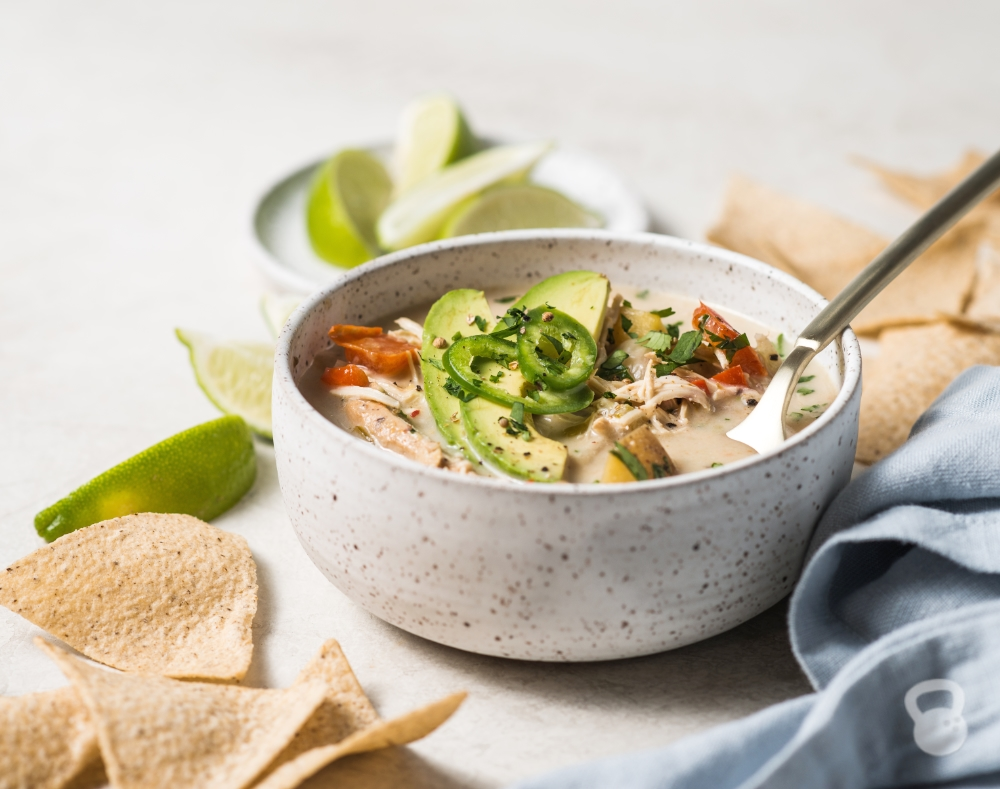 Creamy Crockpot White Chicken Chili (Dairy-Free, Paleo, Whole30)