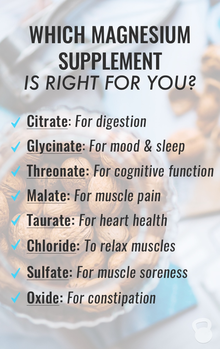 a list of the different types of magnesium